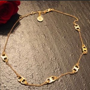 Tory Burch NWOT Gold Gemini Link Necklace